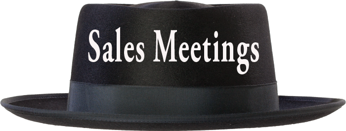 sales meetings hat